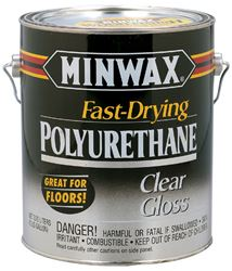Minwax  Indoor  Clear  Gloss  Fast Drying Polyurethane  1 gal.