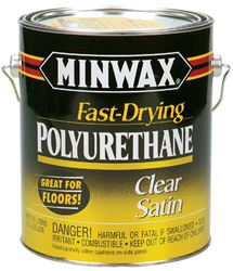 Minwax  Indoor  Clear  Satin  Fast Drying Polyurethane  1 gal.