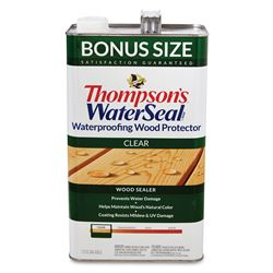 Thompson's Waterseal  Oil-Based  Waterproofer Wood Protector  Clear  1.2 gal.