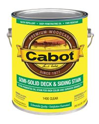 Cabot  Semi-Solid  Oil-Based  Deck and Siding Stain  Clear  1 gal.