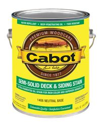 Cabot  Semi-Solid  Oil-Based  Deck and Siding Stain  Neutral Base  Tintable 1 gal.