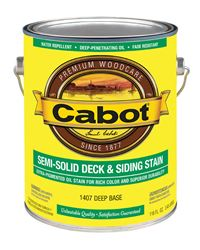 Cabot  Semi-Solid  Oil-Based  Deck and Siding Stain  Deep Base  1 gal.
