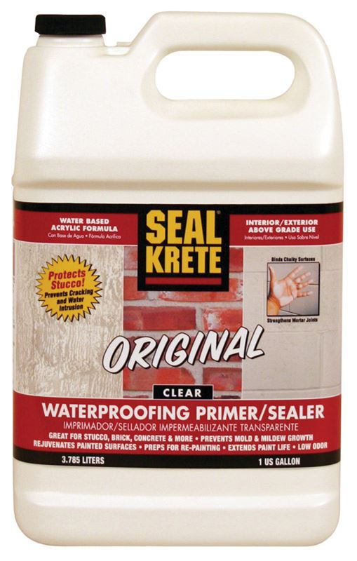 Seal Krete  Acrylic Latex  Waterproofing Primer & Sealer  Clear  1 gal.