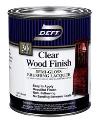 Deft  Wood Finish Lacquer  Semi-Gloss  1 qt.