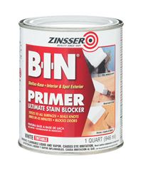 Zinsser  BIN  Shellac-Based  Interior and Exterior  Primer and Sealer  1 qt. White
