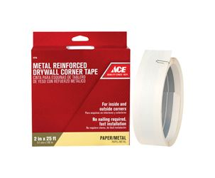 Ace  Corner Tape  Metal Reinforced  Self Adhesive 2 in. W x 25 ft. L