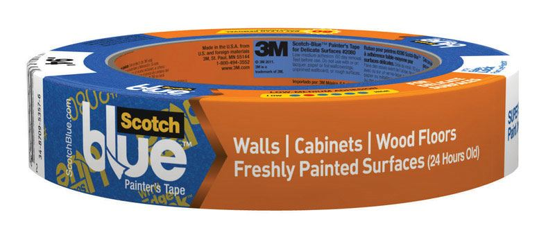 Scotch  0.94 in. W x 60 yd. L Delicate Surface  Painter's Tape  Low to Medium Strength  Blue  1 pk