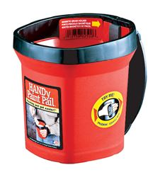 HANDy Paint Pail  Plastic  Bucket  1 qt. Red