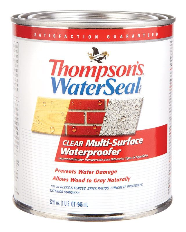 Thompson's Waterseal  Water-Based  Multi-Surface Waterproofer  Clear  1 qt.