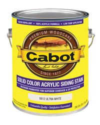 Cabot  Solid Color  Acrylic  Siding Stain  Ultra White  1 gal.