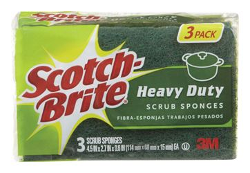 3M  Scotch-Brite  Scrub Sponge  2.7 in. W x 4.5 in. L 3 pk