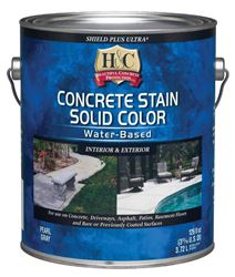 H&C  Shield Plus Ultra  Solid Color  Water-Based  Concrete Stain  Pearl Gray  Tintable 1 gal.