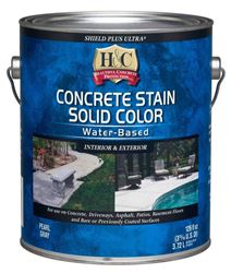 H&C  Latex  Shield Plus Ultra Concrete Latex Stain Low VOC  Deep Base  Tintable 1 gal.