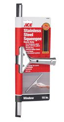 Ace  16 in. W Window Squeegee  Stainless Steel