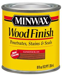 Minwax  Wood Finish  Transparent  Oil Based  Wood Stain  Gunstock  1/2 pt.