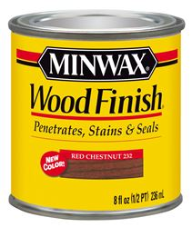 Minwax  Wood Finish  Transparent  Oil Based  Wood Stain  Red Chestnut  1/2 pt.