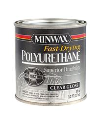 Minwax  Indoor  Clear  Gloss  Polyurethane  1/2 pt.