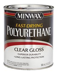 Minwax  Indoor  Clear  Gloss  Fast Drying Polyurethane  1 qt.