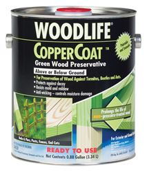 Woodlife  CopperCoat  Water-Based  Wood Preservative  Green  1 gal.