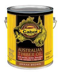 Cabot Transparent Jarrah Brown Oil-Based Penetrating Oil Australian Timber Oil 1 gal.