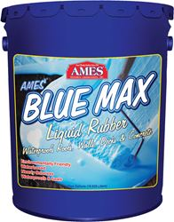 Ames  Blue Max  Interior/Exterior  Rubberized Acrylic  Liquid Rubber  Translucent Blue  5 gal.