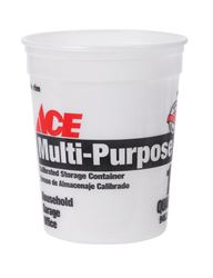 Ace  Plastic  Bucket  1 qt. Clear