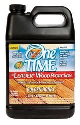 One TIME  Acrylic  Wood Preservative  Golden Honey  1 gal.