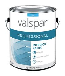 Valspar  Contractor Professional  Interior  Acrylic Latex  Paint  High Hiding White  Flat  1 gal.