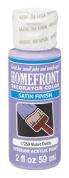 Homefront  Decorator Color  Interior  Acrylic Latex  Paint  Violet Fields  Satin  2 oz.