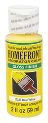 Homefront  Decorator Color  Interior/Exterior  Acrylic Latex  Paint  Real Yellow  Gloss  2 oz.