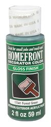 Homefront  Decorator Color  Interior/Exterior  Acrylic Latex  Paint  Forest Green  Gloss  2 oz.