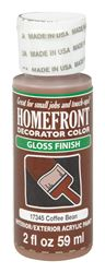 Homefront  Decorator Color  Interior/Exterior  Acrylic Latex  Paint  Coffee Bean  Gloss  2 oz.