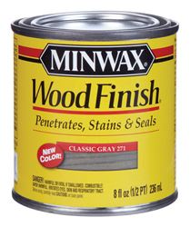 Minwax  Wood Finish  Transparent  Oil-Based  Wood Stain  Classic Gray  1/2 pt.