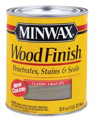 Minwax  Wood Finish  Transparent  Oil-Based  Wood Stain  Classic Gray  1 qt.