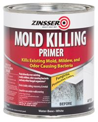 Zinsser  Water-Based  Interior and Exterior  Mold Killing Primer  1 qt. White
