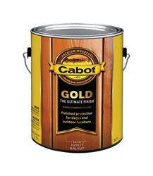 Cabot  Gold  Transparent  Deck Varnish  Sunlit Walnut  1 gal.