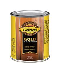 Cabot  Gold  Transparent  Deck Varnish  Sunlit Walnut  1 qt.