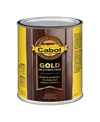 Cabot  Gold  Transparent  Deck Varnish  Moonlit Mahogany  1 qt.
