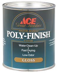 Ace  Indoor  Clear  Gloss  Water Based Poly-Finish  1 qt.