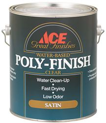 Ace  Indoor  Clear  Satin  Water Based Poly-Finish  1 gal.