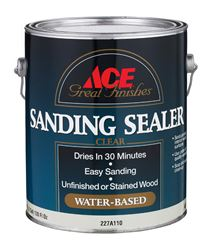 Ace  Latex  Sanding Sealer  Clear  1 gal.
