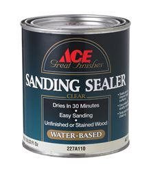 Ace  Latex  Sanding Sealer  Clear  1 qt.