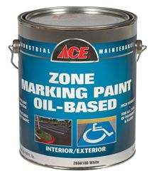 Ace  Oil Based  Traffic Marking Paint  White  1 gal.