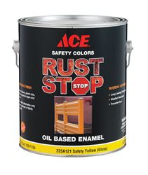 Ace  Gloss  Rust Stop Oil-based Enamel Paint  400g/L  Safety Yellow  1 gal.