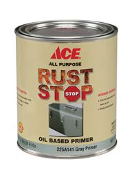 Ace Rust Stop  Oil-Based  Interior and Exterior  Primer  1 qt. Grey
