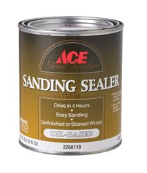 Ace  Oil-Based  Sanding Sealer  Clear  1 qt.