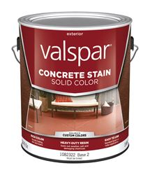 Valspar  Porch and Floor  Solid Color  Resin  Concrete Stain  Base 2  Tintable 1 gal.