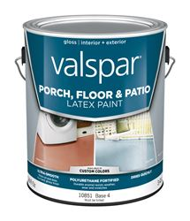 Valspar  Interior/Exterior  Latex  Porch & Floor Paint  Tintable  Gloss  1 gal. Base 4