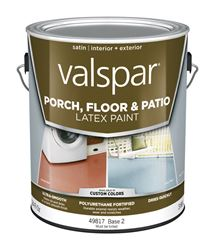 Valspar  Interior/Exterior  Latex  Porch & Floor Paint  Tintable  Satin  1 gal. Base 2