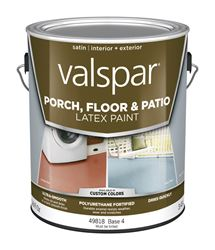Valspar  Interior/Exterior  Latex  Porch & Floor Paint  Tintable  Satin  1 gal. Base 4